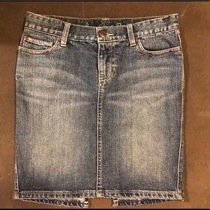 A&F jean mini skirt, 0